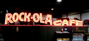 13 FT LONG Rock-ola Cafe Neon Sign from Richmond, VA