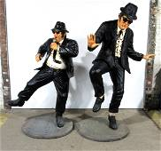 6FT TALL Life Size Blues Brother's Statues