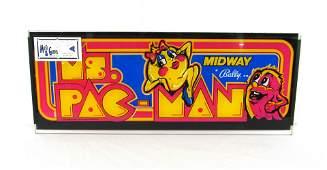 Ms Pac-Man Arcade Game Header