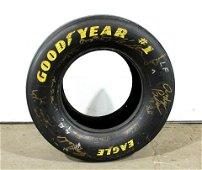 Autographed Jeff Gordon Racing Tire
