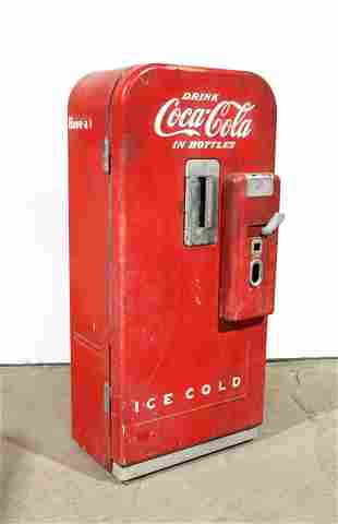 Vendo 39 Coca Cola Coin Operated Vending Machine