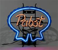 Pabst Beer Blue Ribbon Light Up Neon Sign