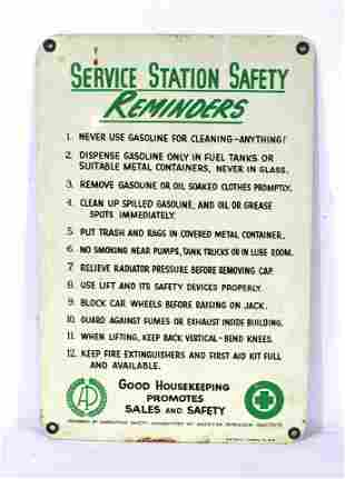 Service Station Porcelain Sign by A-M Sign Co.