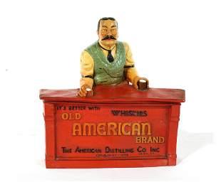 American Distilling Whiskey Advertising Display
