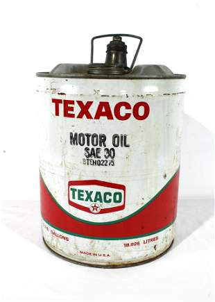Texaco 5 Gallon Motor Oil Can