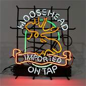 Moosehead Imported Beer On Tap Light Up Neon Sign
