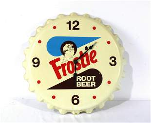 Frostie Root Beer Bottle Cap Clock