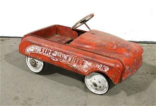 Fire Chief Themed Pedal Car