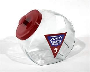 Tom's Peanuts Glass Jar with Lid