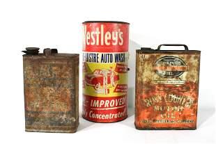 Motor Oil Auto Cans Inc. Pennsylvannia Oil
