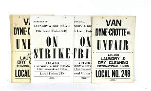 Laundry & Dry Clean Union Strike Posters