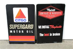 Two Auto Stand Signs, Citgo and Raybestos