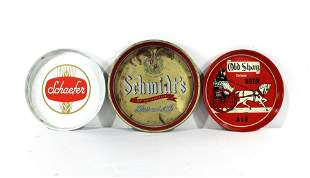 Advertising Beer Trays including Schmidt & Shaefer