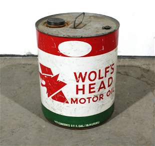 Wolf's Head 5 Gallon Oil Can