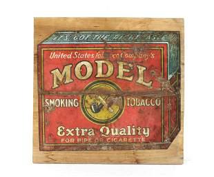 Model Smoking Tobacco Tin Sign