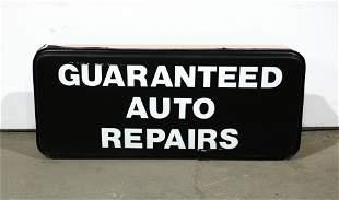 4 FT LONG Guaranteed Auto Repairs Shop Sign