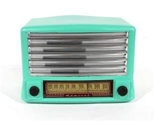Admiral Teal Painted Radio
