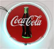 Coca Cola Button Neon Sign