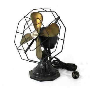 Crescent Vintage Small Metal Fan