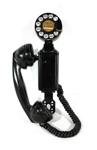 Early Western Electric Side Mount Telephone
