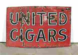 5FT United Cigars Porcelain Sign