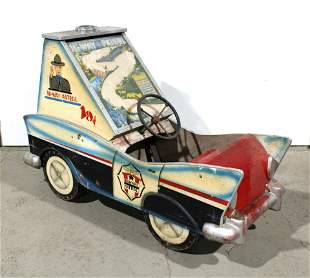 1950s Coin Operated Police Car Kiddie Ride