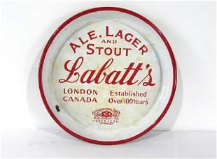 Porcelain Labatt's Beer Advertising Tray