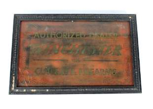 Winchester Authorized Dealer Sign, Reverse on Glass