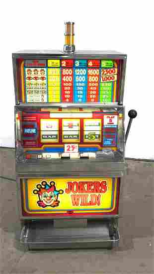 IGT Jokers Wild Coin Operated Slot Machine