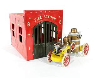 Kingsbury Fire House and Pumper Toy