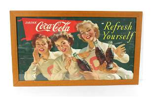 """Coca Cola """"Refresh Yourself"""" Framed Poster"""