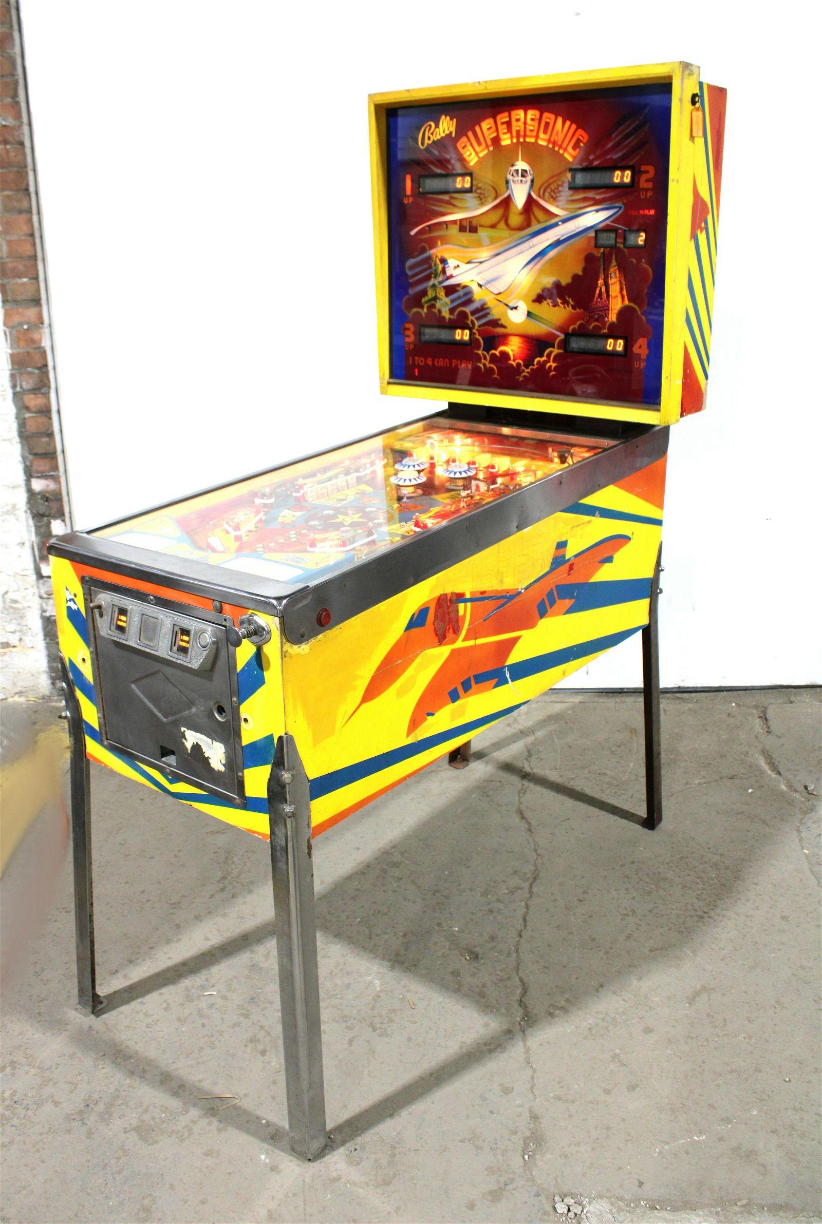 Bally Supersonic Pinball Machine