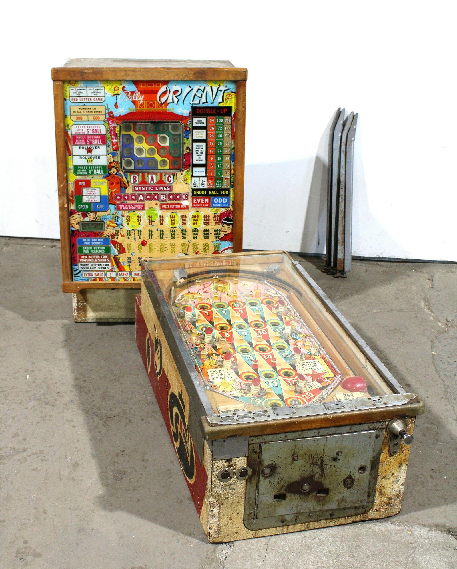 Bally Orient Bingo Pinball Machine