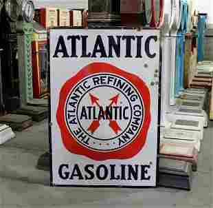 Porcelain Atlantic Gas Advertising Sign