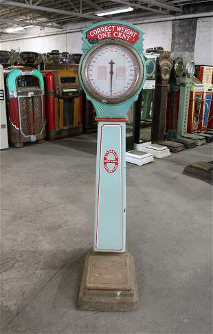 National Penny Scale With Porcelain Sides