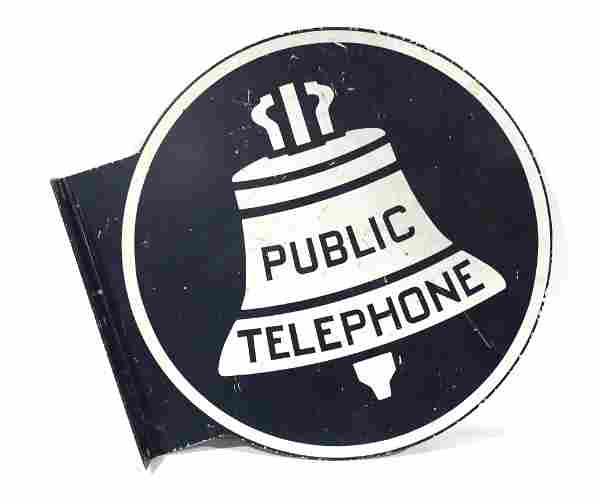 Public Telephone DS Flange Sign