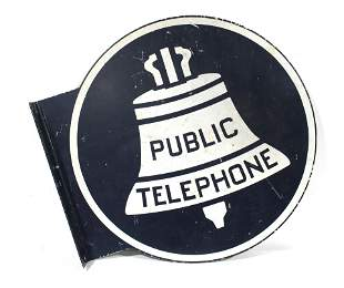 Public Telephone DS Flange Sign