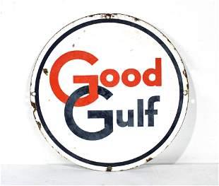 Good Gulf Porcelain Pump Plate