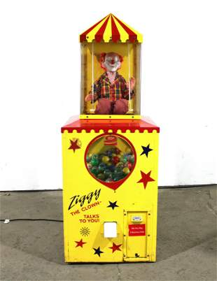 Ziggy The Clown Coin Operated Prize Vending Machine