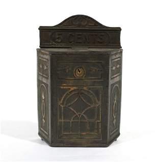 1920s Holcomb & Hoke Cast Iron Jukebox Wallbox