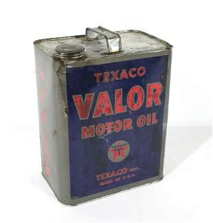 Texaco Valor Motor Oil 2 Gallon Can