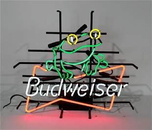 Budweiser Beer Frog Neon Sign
