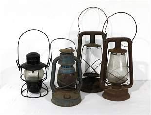 Railroad Lanterns, Lot of Four