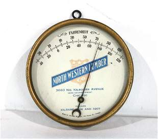 Northwestern Lumber of Chicago, IL Thermometer