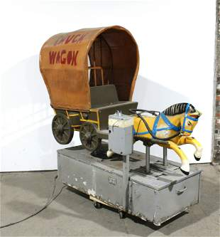 1950s Chuck Wagon Coin Operated Kiddie Ride