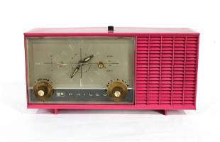 Vintage Philco Pink Painted Radio