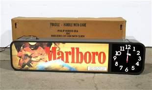 NOS Marlboro Cigarettes Clock in Box