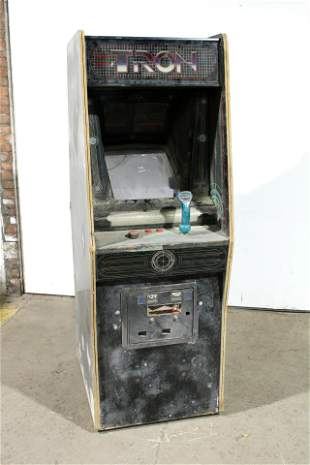 Bally Midway Tron Arcade Game Cabinet