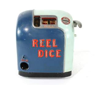 1936 Reel Dice Coin Op Gumball Trade Stimulator