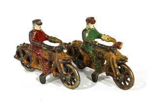 Hubley Cast Iron Motorcycle Cop Toys